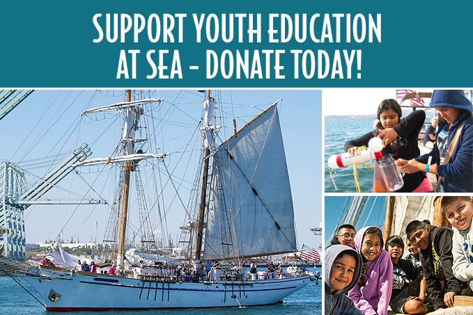 Support youth education at sea aboard tall ships